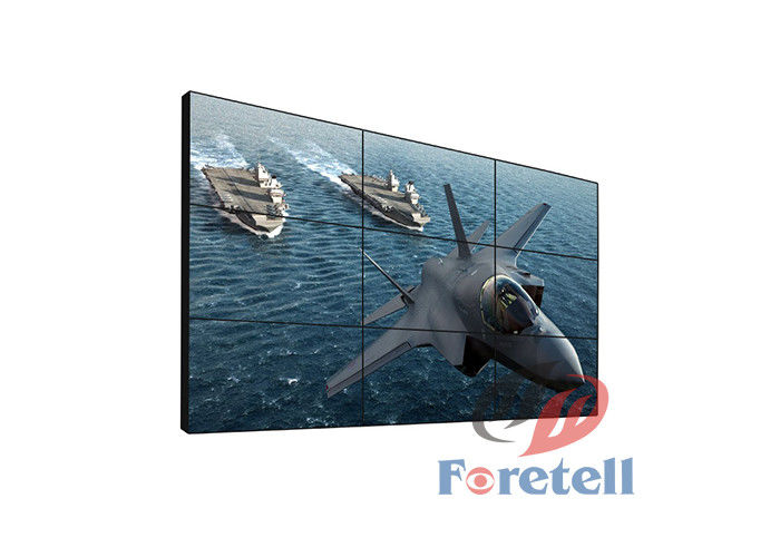 4K Input LCD Screen Display Video Monitor Wall , 3x3 Video Wall Outdoor Application