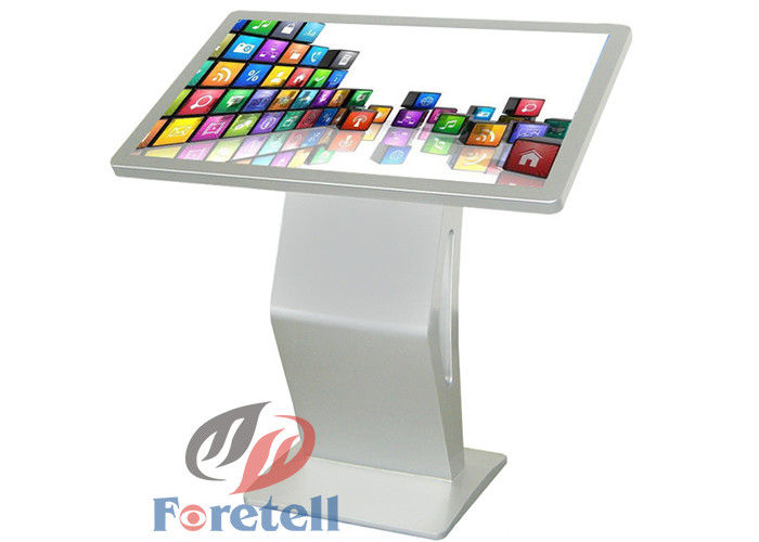55 Inch 4K LCD Display All - In - One Floor Standing Kiosk For Information Inquiring